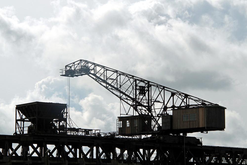 Kranbrücke des Peenemünder Steinkohlekraftwerkes