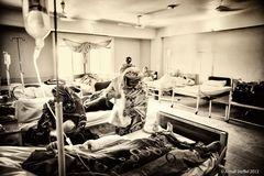 Krankensaal Frauen im Nazir Hussain Hospital Karachi