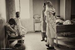 Krankensaal Männer im Nazir Hussain Hospital Karachi