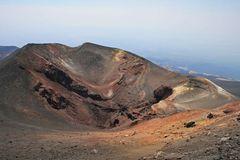 Krater des Ausbruchs von 2002