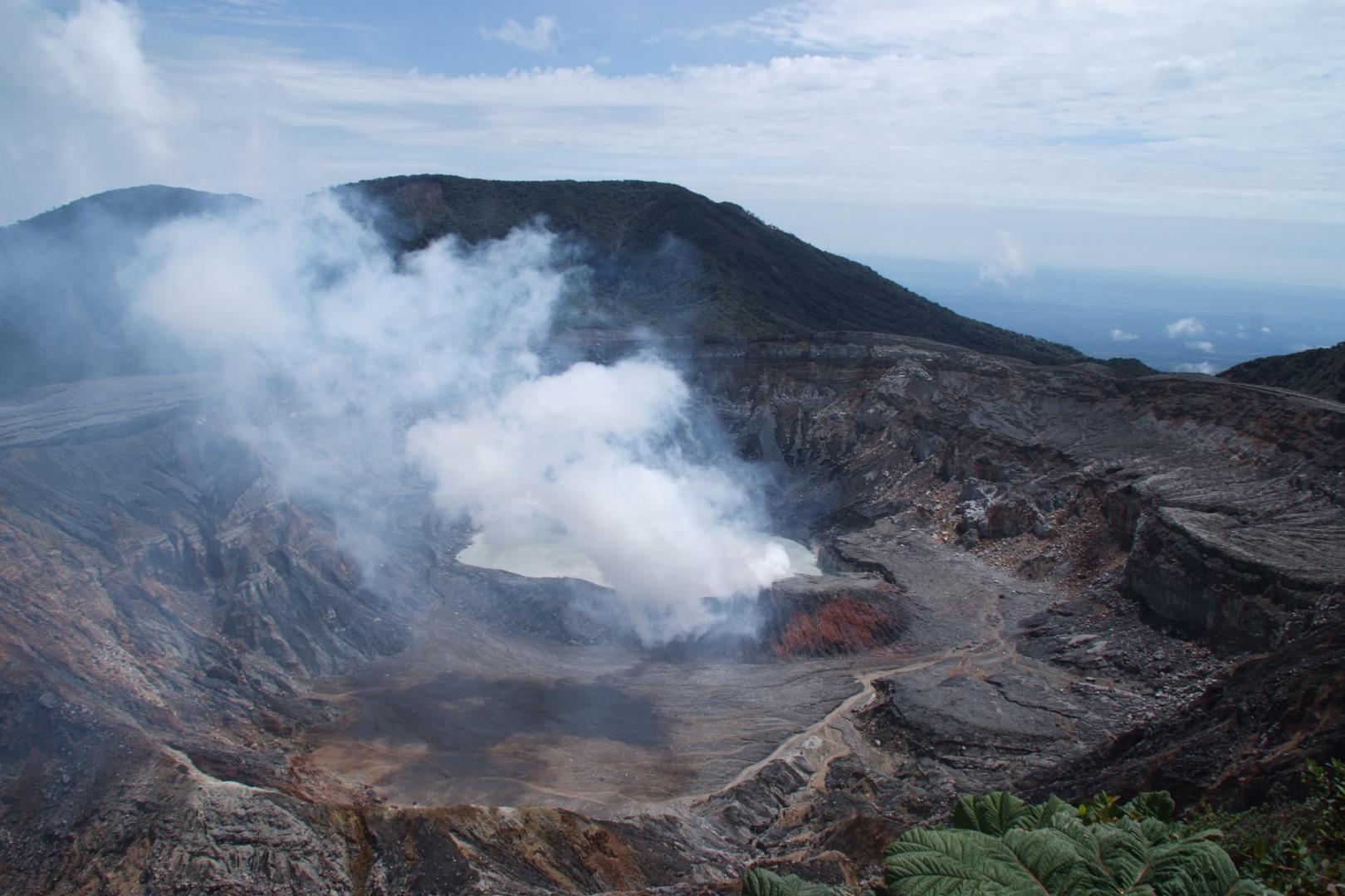 Krater vom Vulkan Poas, Costa Rica