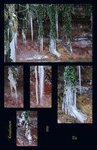Kreationen aus Eis