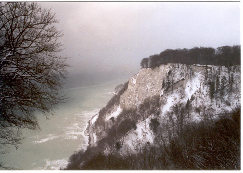 Kreidefelsen auf Rügen im Dezember