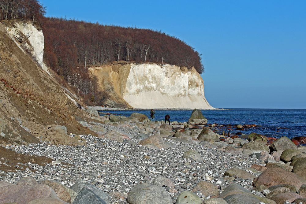 Kreideküste im Februar
