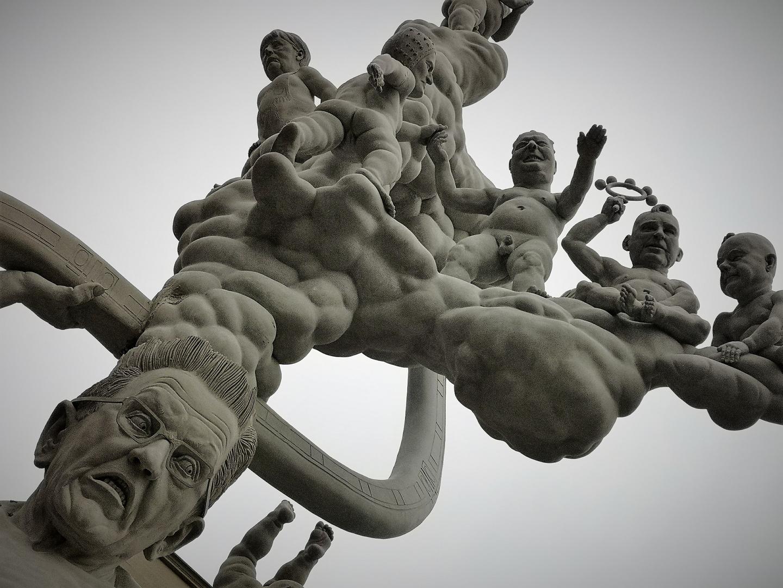 Kretsche unter Angela V1 Denkmal Stgt P20-20-sw +9Fotos +neue Figurenauflösung