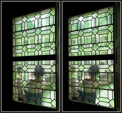 Kreuzblick durchs Schlossfenster [3D]