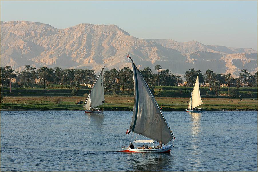 Kreuzen auf dem Nil....