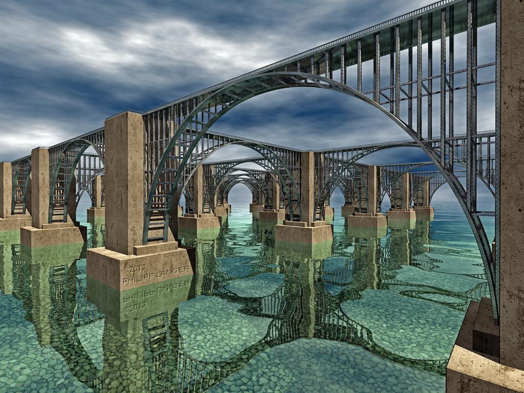 Kreuzende Brücken 2 / Crossing Bridges 2