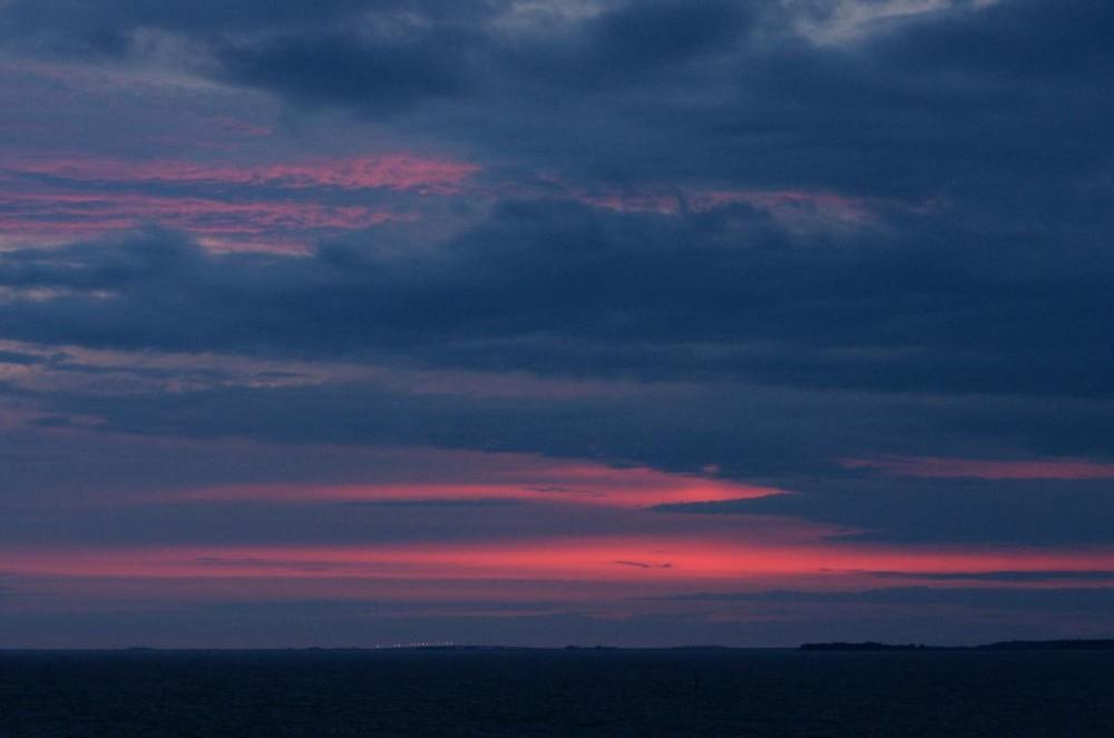 Kreuzfahrt, nordischer Abendhimmel