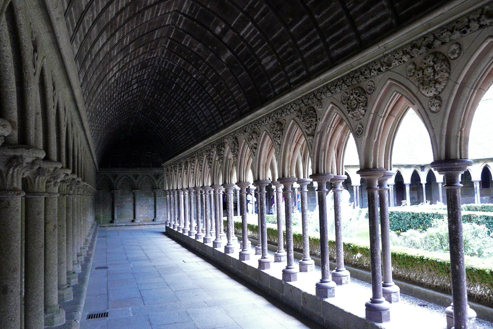 Kreuzgang des Klosters Mont. St. Michel