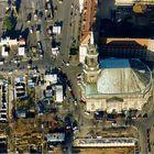 Kreuzkirche und Altmarkt 1997 mit freigelegten alten Kellergewölben