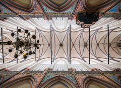 Kreuzrippengewölbe der Nikolaikirche in Stralsund