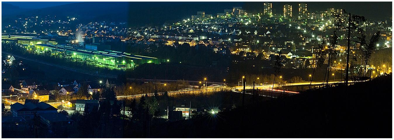 Kreuztal bei Nacht