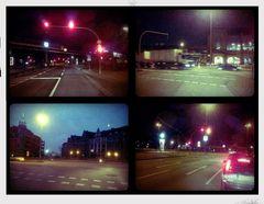..kreuzungen bei nacht..