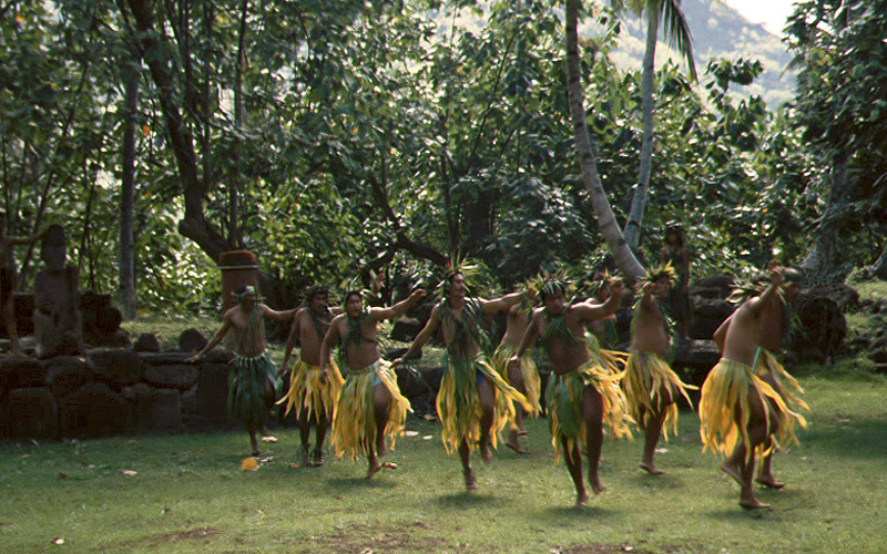 Kriegstanz der Marquesaner
