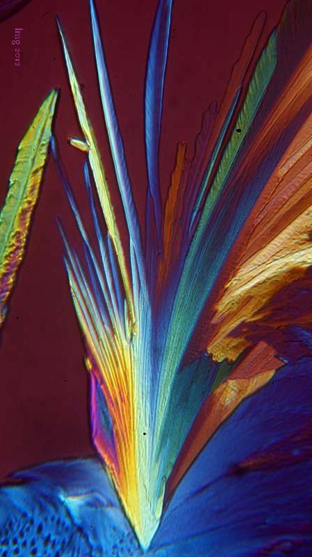 Kristalle wie gemalt
