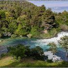 Krka Wasserfälle im gleichnamigen Nationalpark; Kroatien Camper-Reise Mai 2019