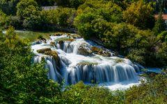 Krka Wasserfall 1, Nationalpark Krka, Dalmatien, Kroatien