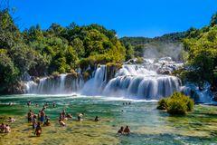 Krka Wasserfall 2, Nationalpark Krka, Dalmatien, Kroatien