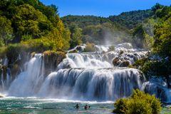 Krka Wasserfall 3, Nationalpark Krka, Dalmatien, Kroatien