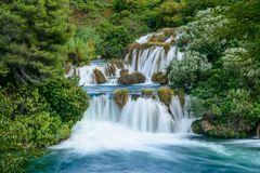 Krka Wasserfall 4, Nationalpark Krka, Dalmatien, Kroatien