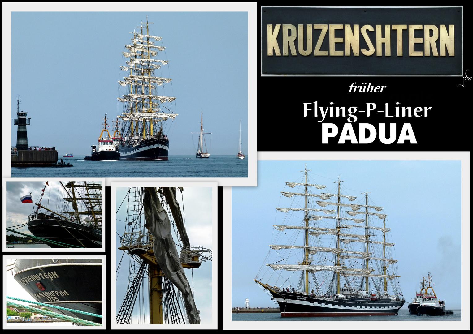 KRUZENSHTERN - ehemals PADUA  - 4-Mast-Bark