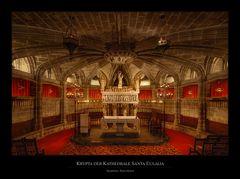 Krypta der Kathedrale Santa Eulalia