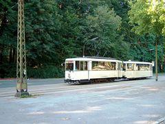 KSW Tw 888 mit Beiwagen an der Trabrennbahn Gelsenkirchen