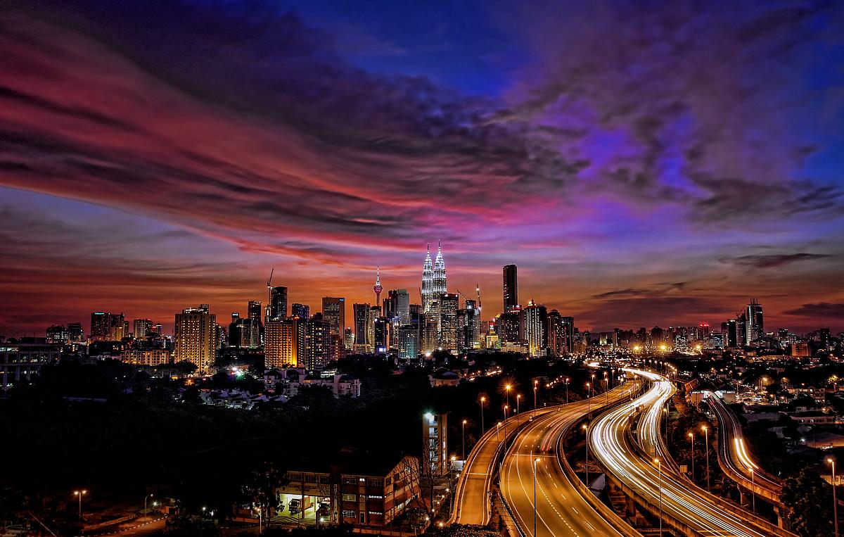 Kuala Lumpur at sundown