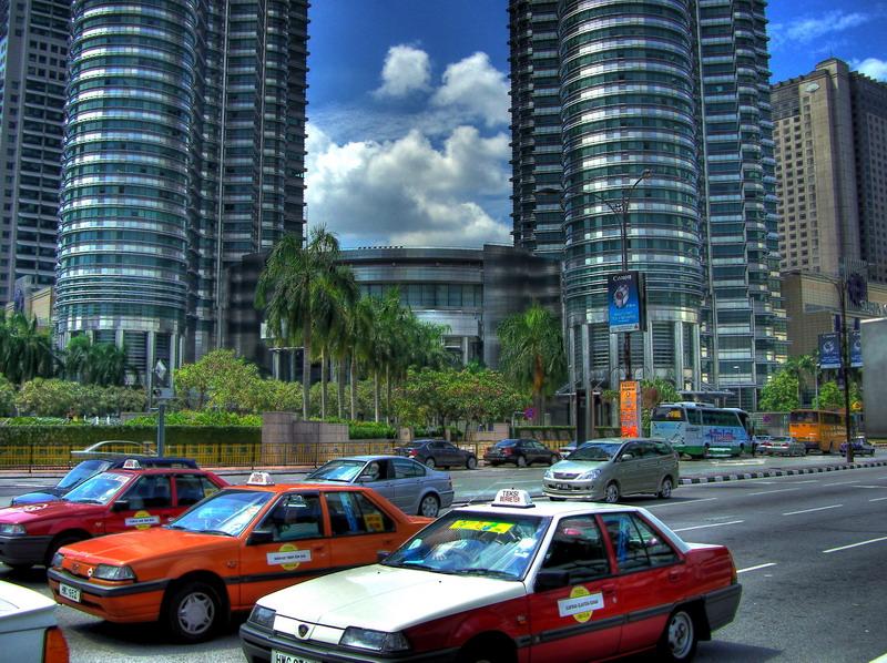 Kuala Lumpur - Rotphase vor den Petronas