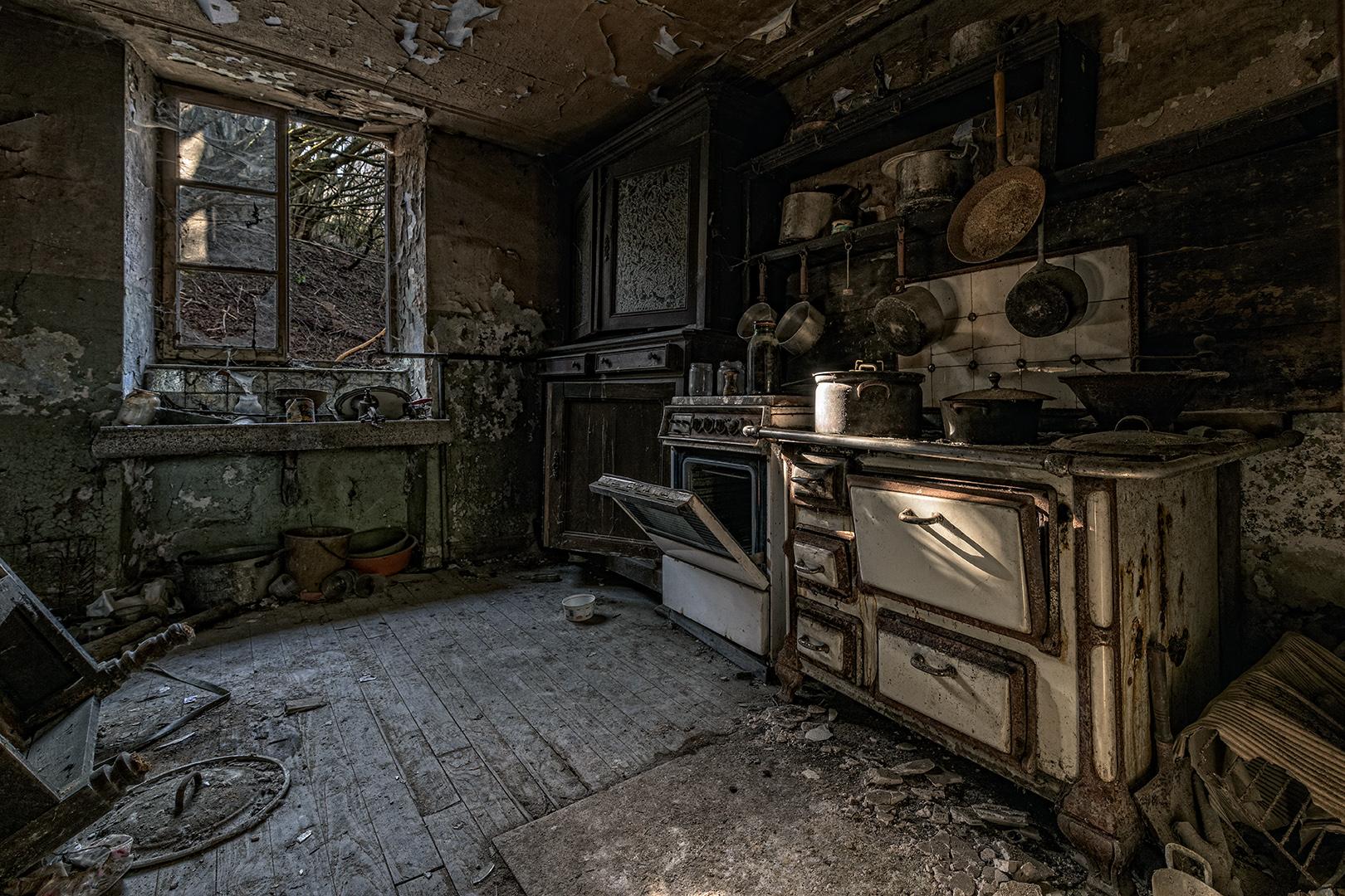 Küche einer alten Mühle