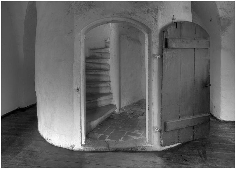 Küchenaufgang in Burg Ranis