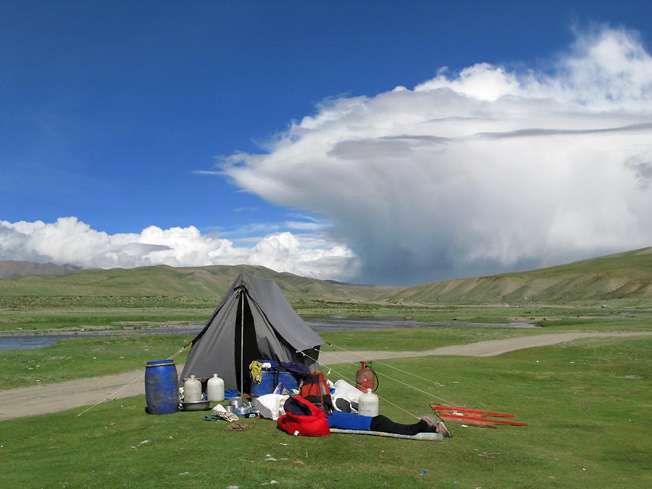 Küchenzelt-Sherpa-Tibet-Wetter