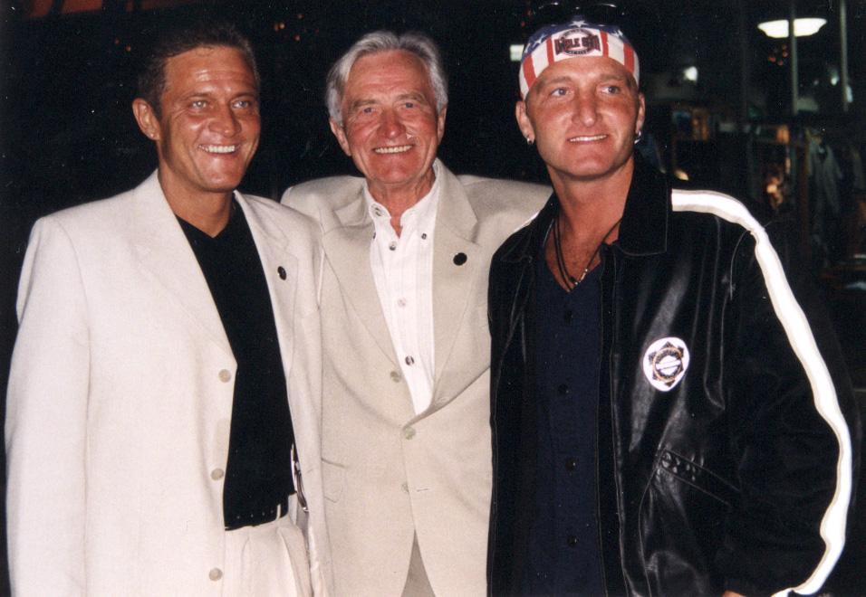 Künstler Manager Klaus Dieter Schmidt mit Vater Michael Schmidt und Mario Schmidt in Los Angeles