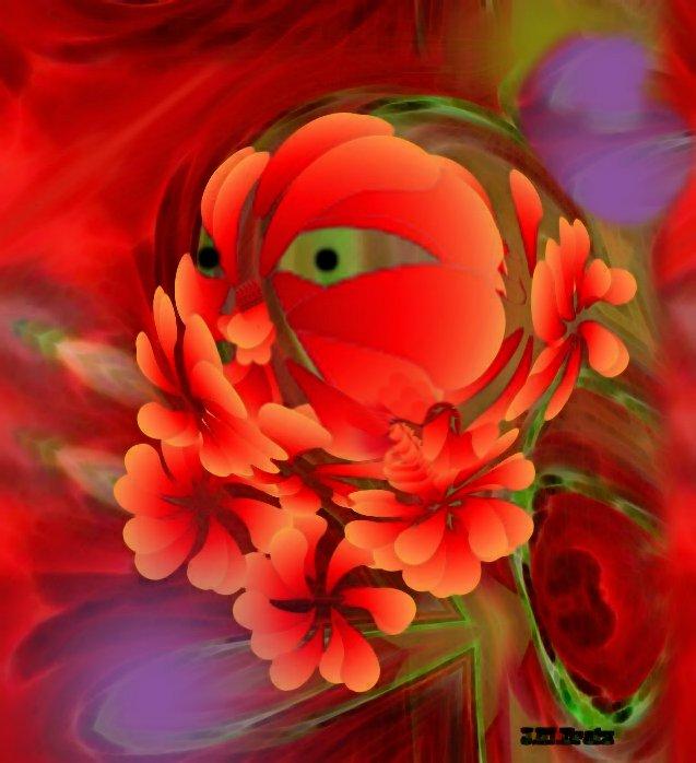 Kürbis im Blütenrausch