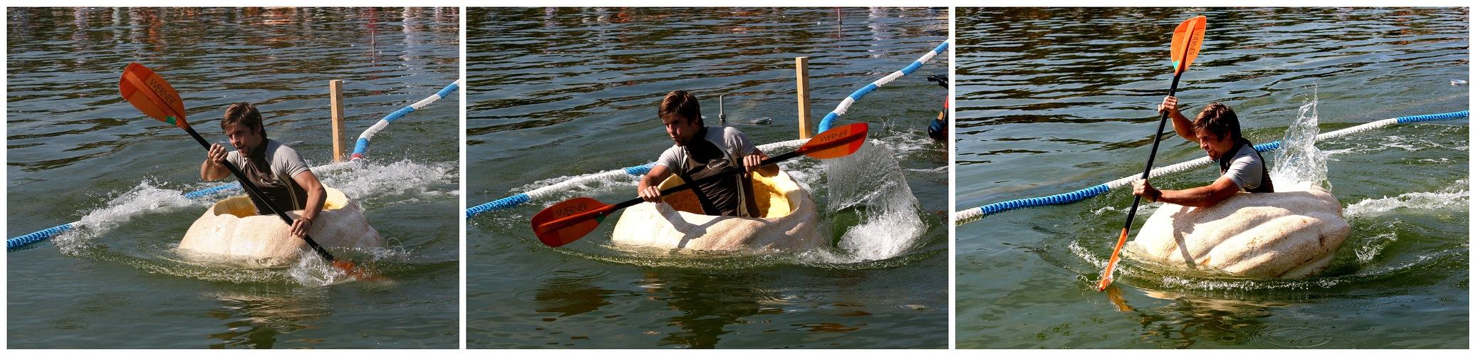 Kürbisbootrennen