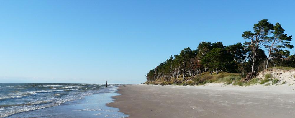 Küstenstreifen unterhalb von Liepaja