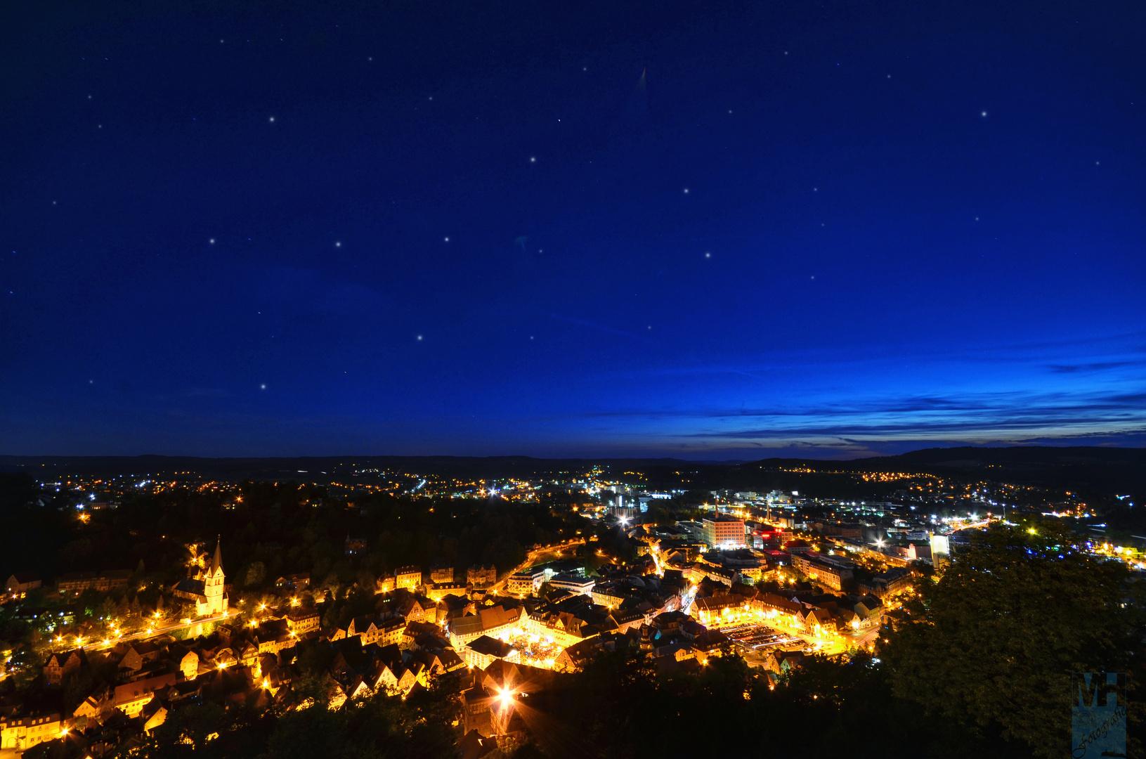 Kulmbach Skyline - Sternschnuppennacht