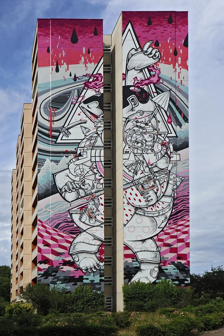 Kunst an der Hausfassade
