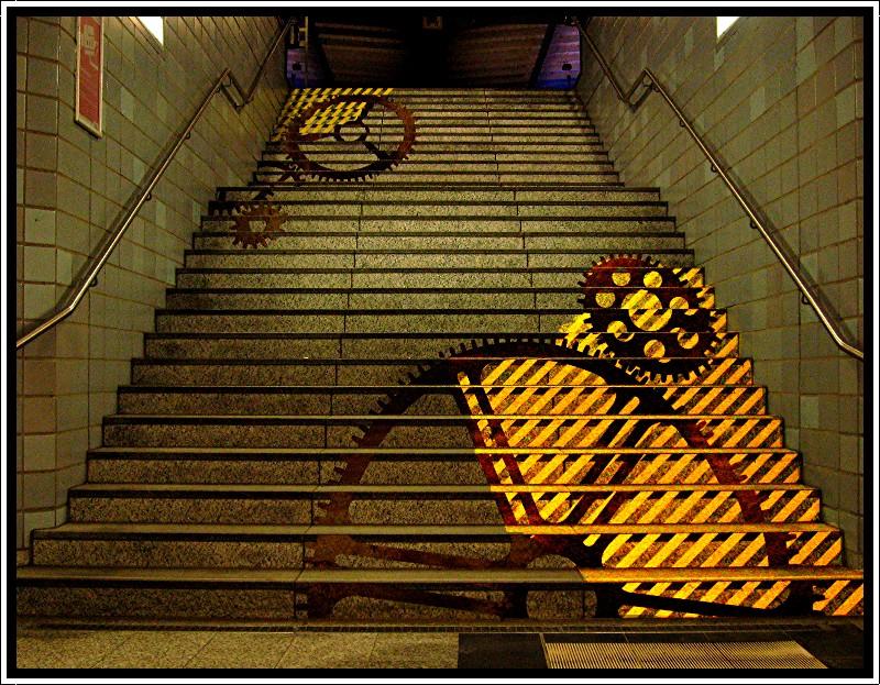 Kunst an der Treppe