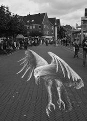 Kunst auf dem Straßenpflaster