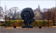 ... Kunst im Herbstregen ...