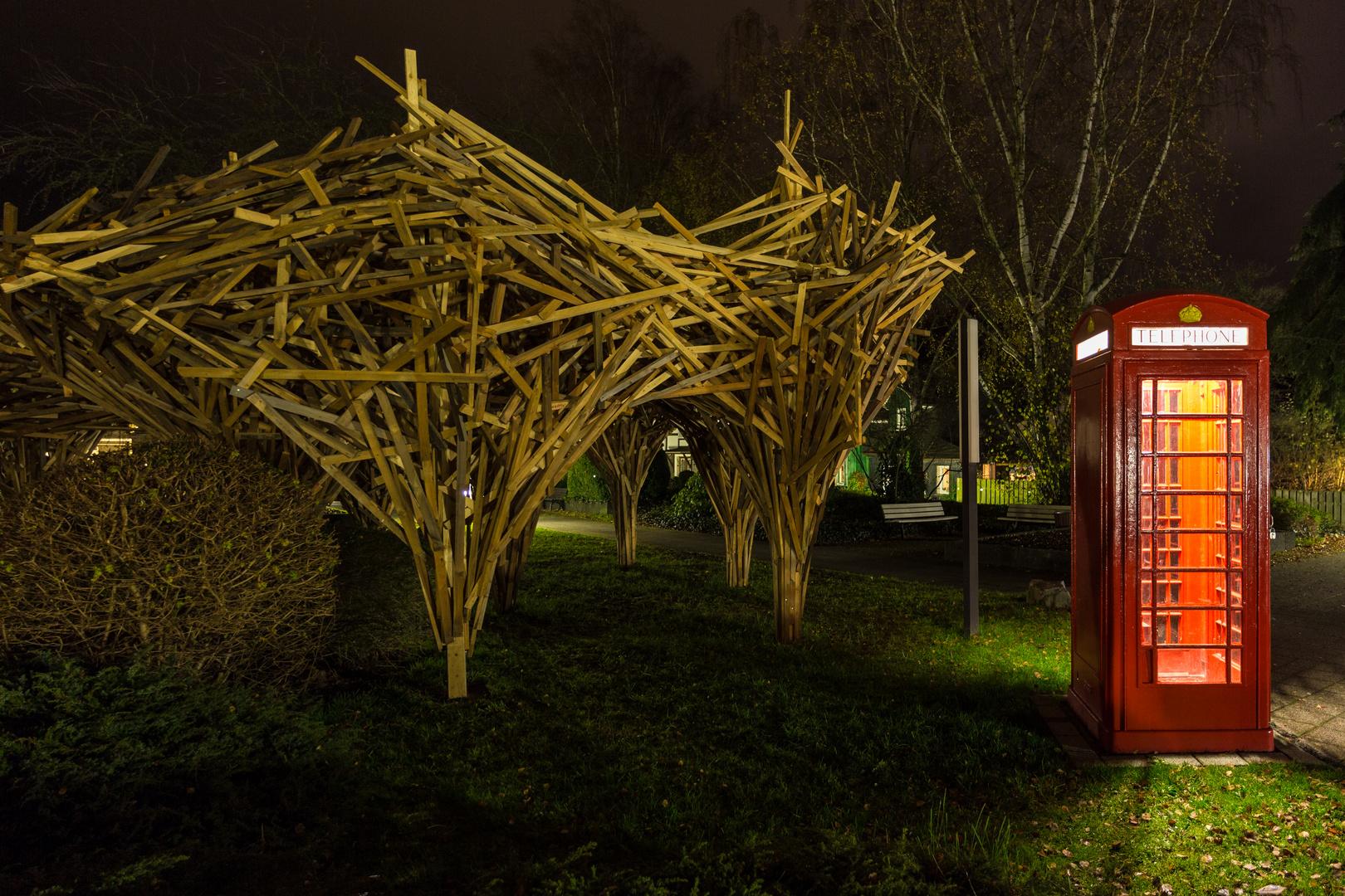 Kunst in Bad Laasphe bei Nacht