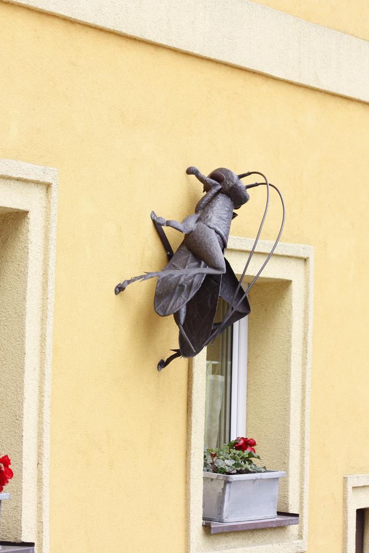 Kunsthandwerk aus Stahl und Eisen - Ein schöner Wandschmuck am Haus !