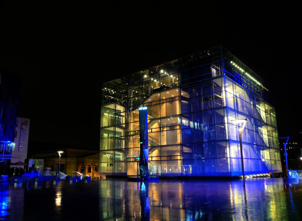 Kunstmuseum Stuttgart bei Nacht - HDR