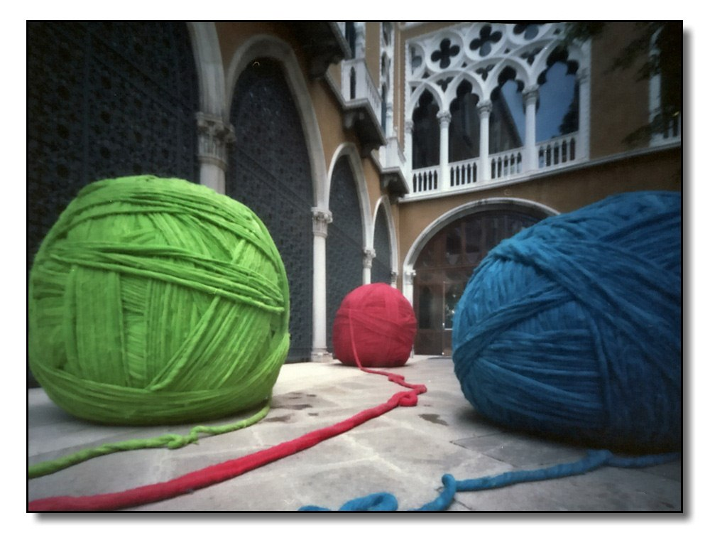 Kunstobjekt in Venedig