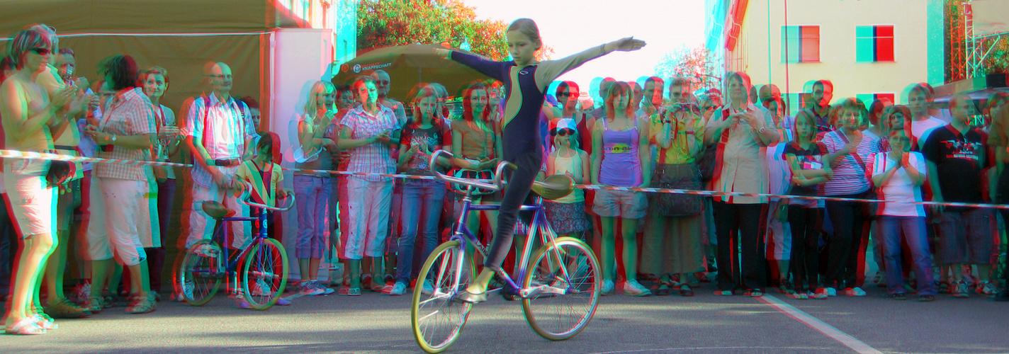 Kunstradfahren (3D-Foto Nr.02)
