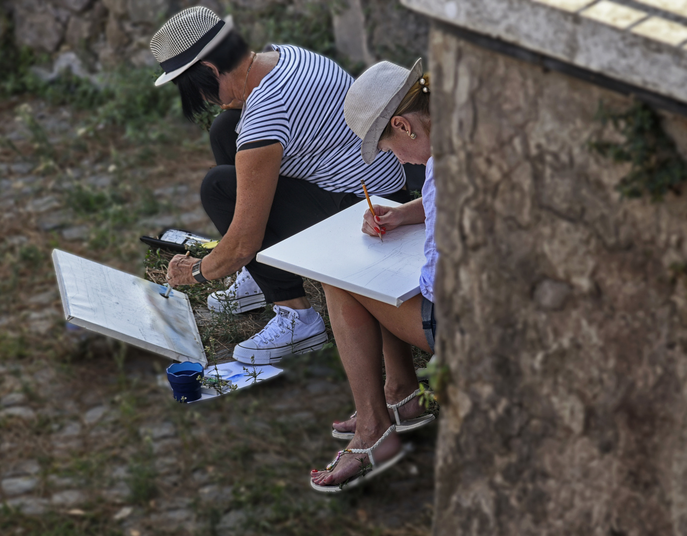 Kunststudenten in Rom