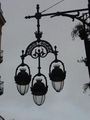 kunstvolle Straßenbeleuchtung