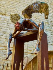 Kunstwerk an der Cathedral de Barcelona